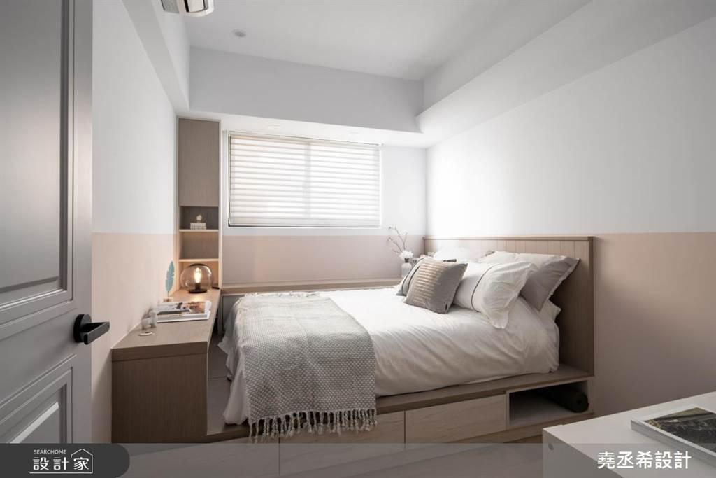 臥室坪數不大該怎麼規劃?15 款小坪數臥室設計,打造有收納又風格的睡眠空環境(圖/堯丞希設計)