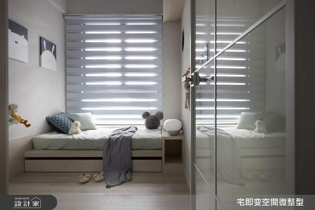 臥室坪數不大該怎麼規劃?15 款小坪數臥室設計,打造有收納又風格的睡眠空環境(圖/宅即變空間微整形)