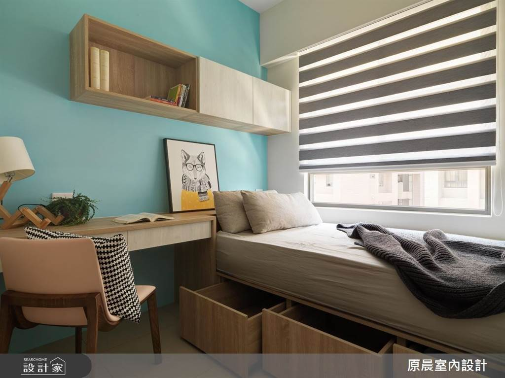 臥室坪數不大該怎麼規劃?15 款小坪數臥室設計,打造有收納又風格的睡眠空環境(圖/原晨室內設計)