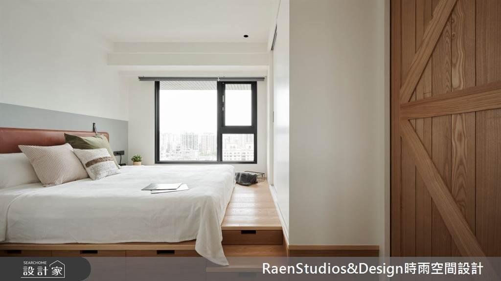 臥室坪數不大該怎麼規劃?15 款小坪數臥室設計,打造有收納又風格的睡眠空環境(圖/時雨空間設計)