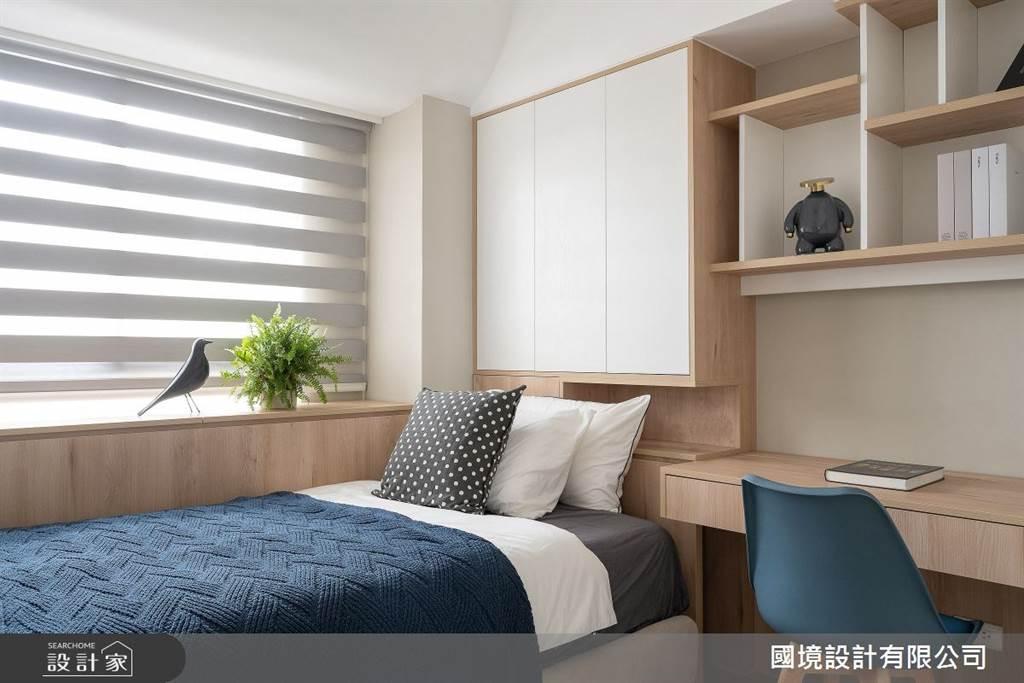 臥室坪數不大該怎麼規劃?15 款小坪數臥室設計,打造有收納又風格的睡眠空環境(圖/國境設計有限公司)