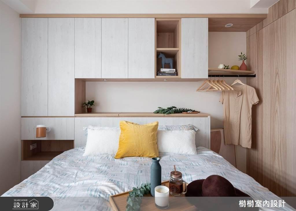 臥室坪數不大該怎麼規劃?15 款小坪數臥室設計,打造有收納又風格的睡眠空環境(圖/榯榯室內設計)