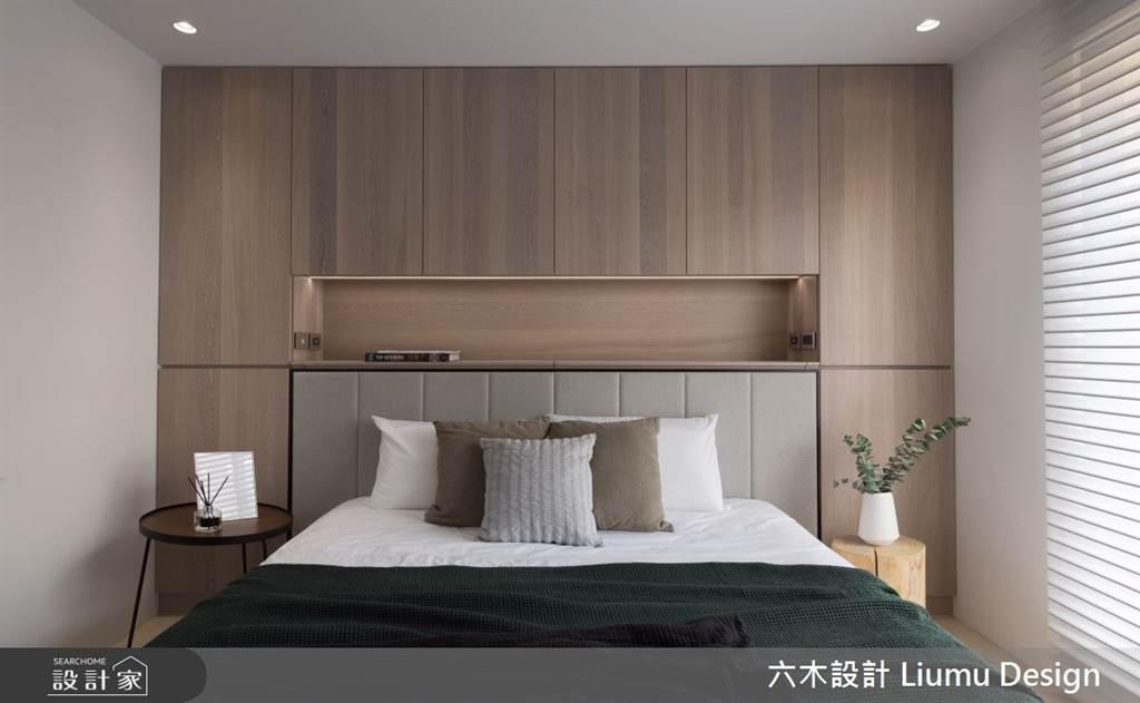 臥室坪數不大該怎麼規劃?15 款小坪數臥室設計,打造有收納又風格的睡眠空環境(圖/六木設計)