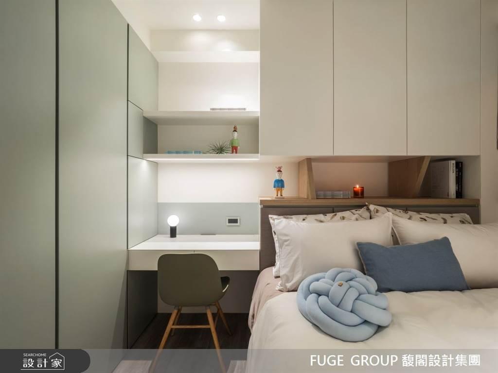 臥室坪數不大該怎麼規劃?15 款小坪數臥室設計,打造有收納又風格的睡眠空環境(圖/馥閣設計集團)