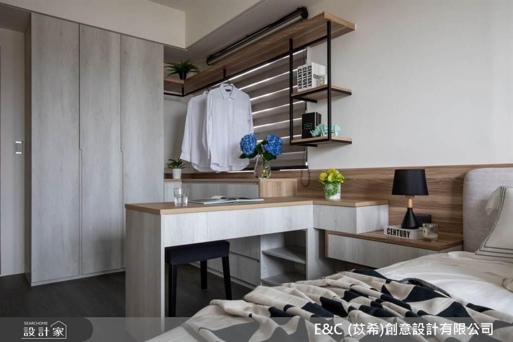 臥室坪數不大該怎麼規劃?15 款小坪數臥室設計,打造有收納又風格的睡眠空環境(圖/E&C苡希創意設計有限公司)