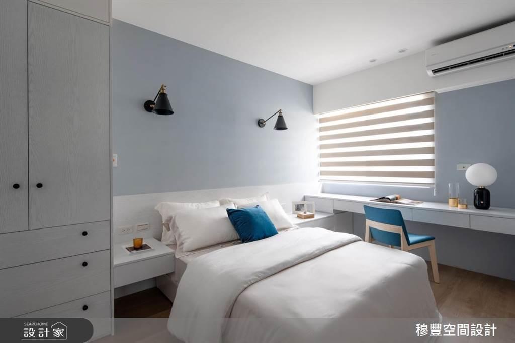 臥室坪數不大該怎麼規劃?15 款小坪數臥室設計,打造有收納又風格的睡眠空環境(圖/穆豐空間設計)