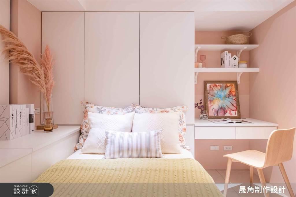 臥室坪數不大該怎麼規劃?15 款小坪數臥室設計,打造有收納又風格的睡眠空環境(圖/晟角制作設計)