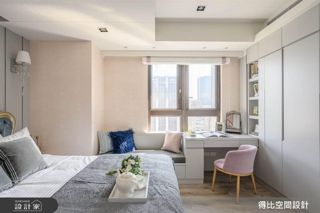 臥室坪數不大該怎麼規劃?15 款小坪數臥室設計,打造有收納又風格的睡眠空環境(圖/得比空間設計)