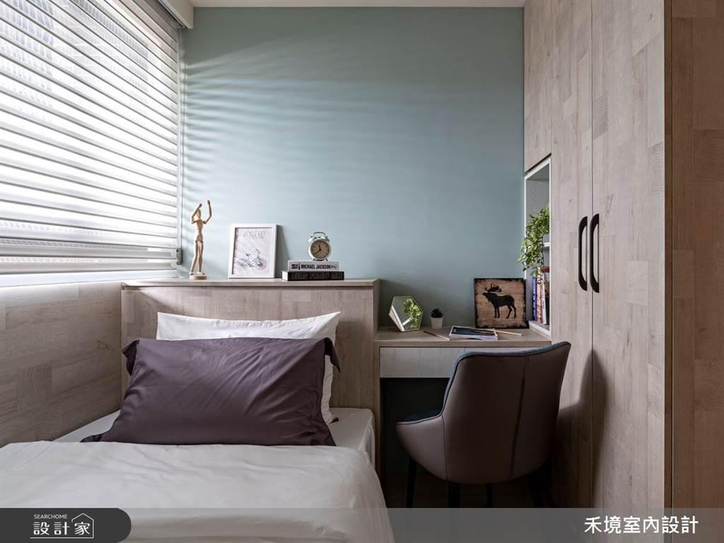 臥室坪數不大該怎麼規劃?15 款小坪數臥室設計,打造有收納又風格的睡眠空環境(圖/禾境室內設計)