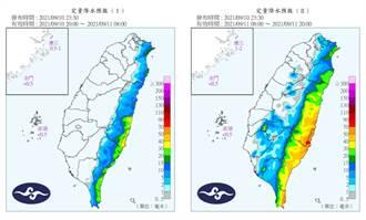 護國神山發威!降雨預報出爐 台灣被「完美對半分割」