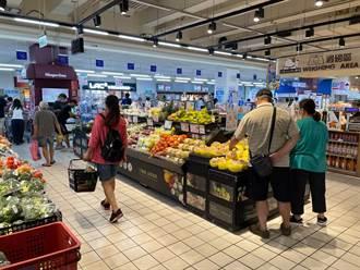 颱風前夕賣場未湧現人潮 研判因補班日所致