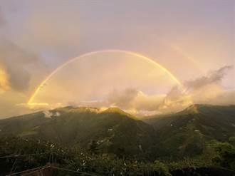 璨樹襲台前夕 福壽山金黃色彩虹美呆了