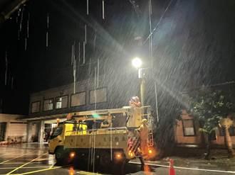 璨樹襲台 北部、西半部已出現停電災情
