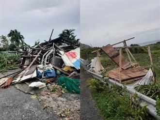 璨樹17級狂風襲蘭嶼吹落水塔、毀木屋 驚悚曝光居民心痛