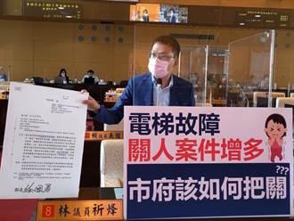 中市一年檢查4萬5千部電梯 議員籲取締借牌轉包違法廠商
