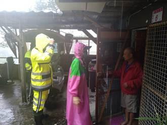 璨樹颱風過境 桃園復興區預防性撤離79人