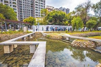 竹北東興圳景觀再造 宛如小森林