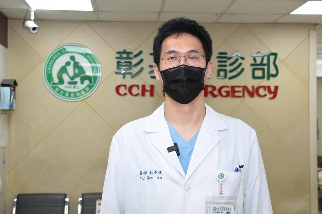 彰基醫師林晏任表示,處理海鮮不慎被刺傷,可能引發「創傷弧菌」感染,若出現發燒、畏寒、患部紅腫熱痛等症狀時,必須儘快就醫。(吳敏菁攝)