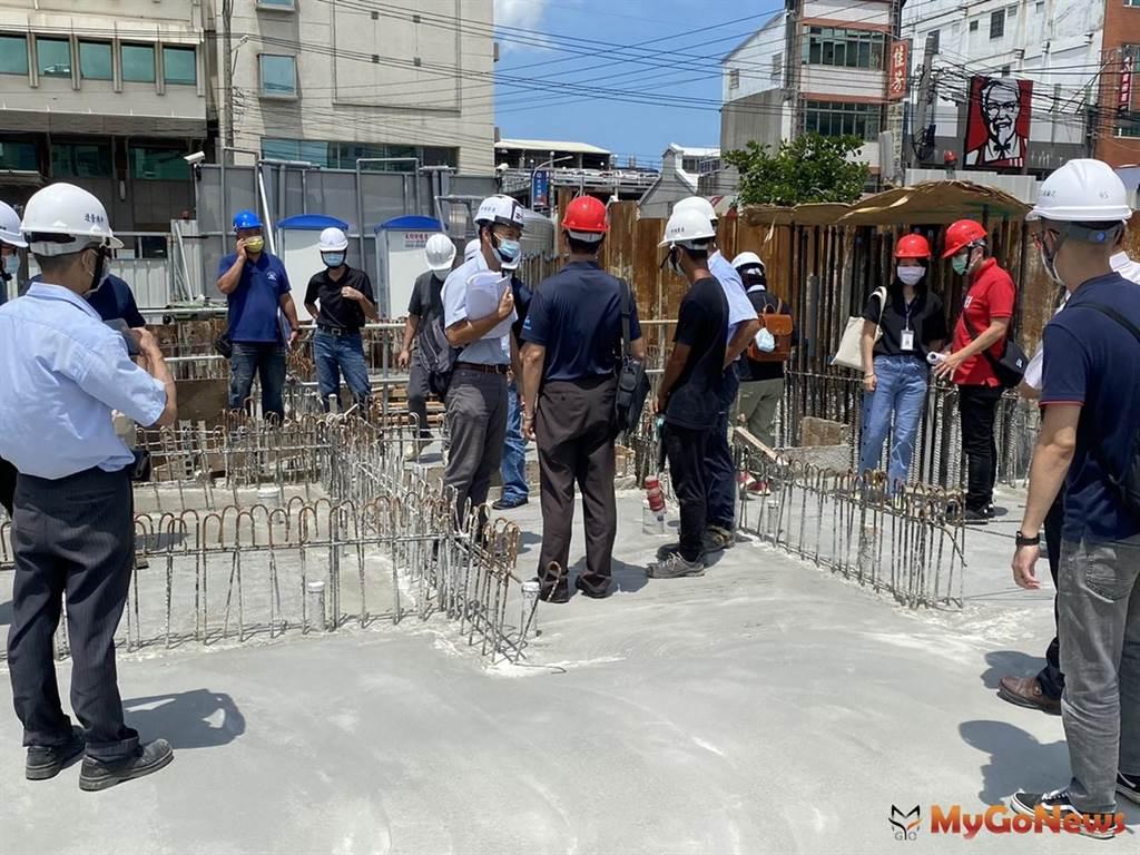 台中市沙鹿區沙田路立體停車場地下室結構體完成 預計2022年底前完工(圖/台中市政府)
