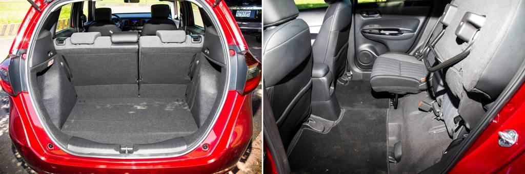行李廂標準容積304L略為縮小,但開口加大更好使用,搭配後座椅墊可上掀、前傾等多變設計,仍是極具機能的小型車。(圖/陳彥文攝)