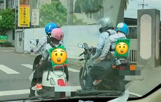 熱血家庭2大2小機車環島 招牌揭爸媽差異網笑:媽媽真猛