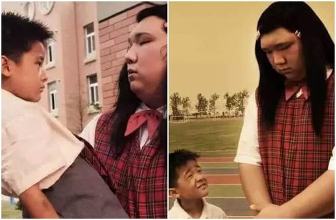 長江七號「胖妹美嬌」真實身分曝光,是一名大學教授。(圖/微博)