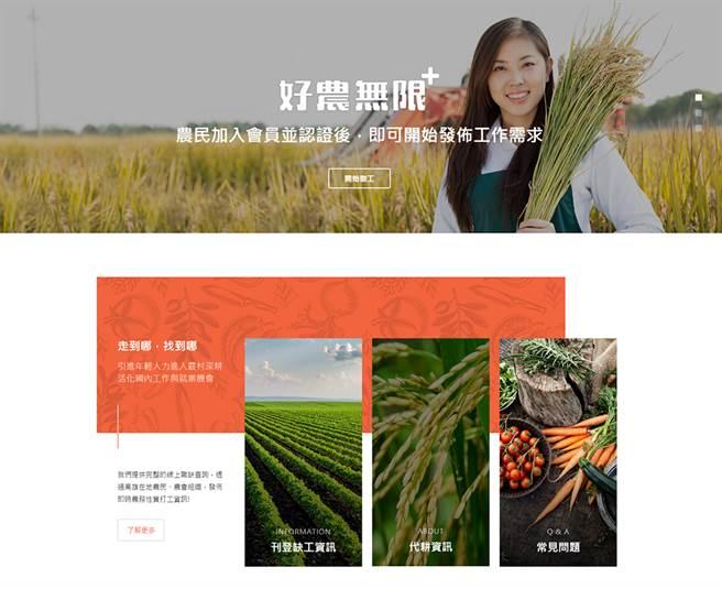 「好農無限+」平台。(攝影/曾信耀)