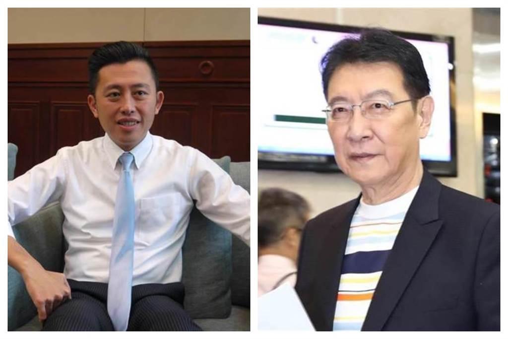 新竹市長林智堅(左)和資深媒體人趙少康(右)。(中時合成照)