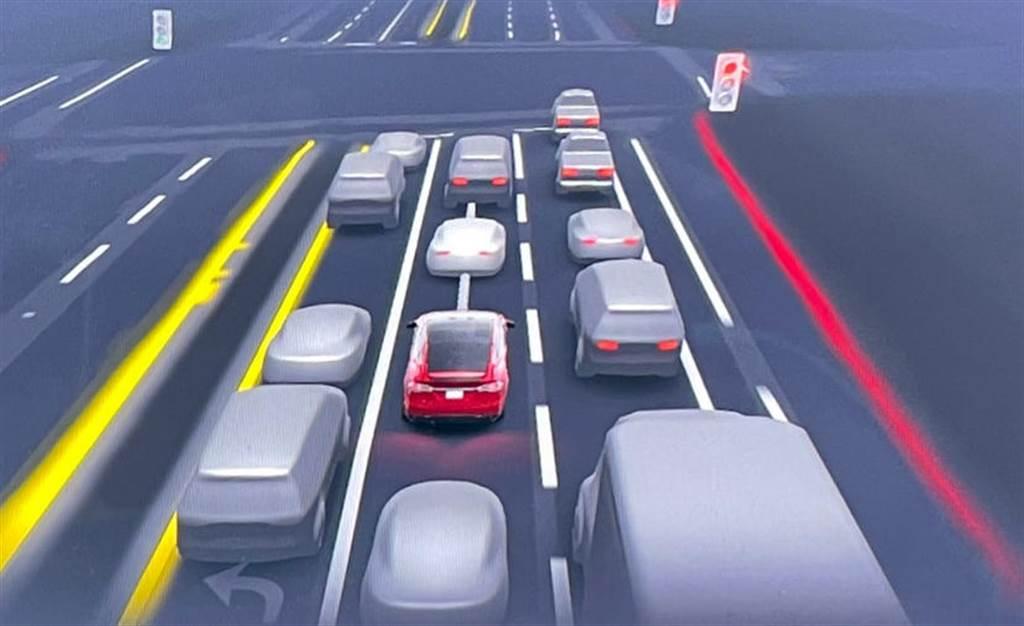 特斯拉 FSD beta 全自動輔助駕駛將加入智慧倒車功能(圖片來源:Not a Tesla App)