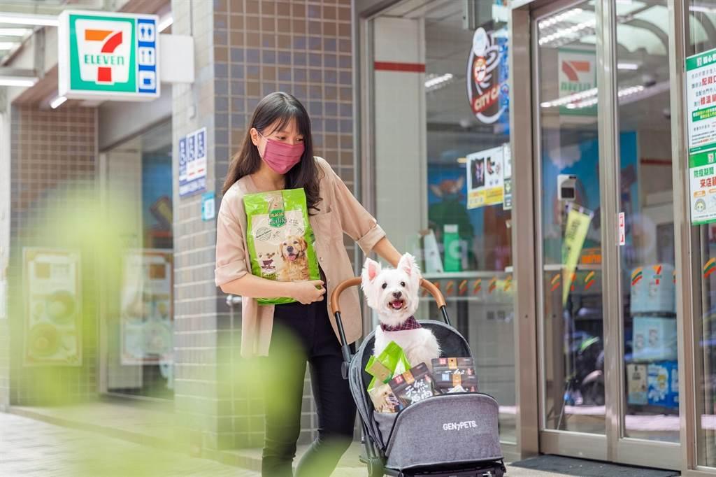 7-11寵物專區依商圈屬性,規劃商品結構與種類。