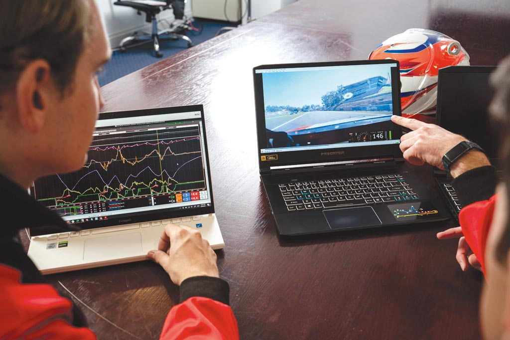 宏碁透過旗下Predator及ConceptD系列電腦,為澳洲超跑賽車團隊Brad Jones Racing建立全方面的運算技術、數據整合資料庫。圖/宏碁提供