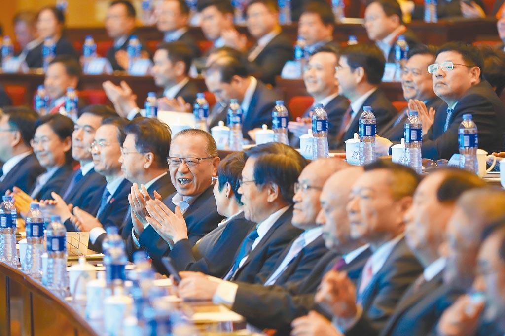 兩岸企業家峰會是兩岸最高層級的經貿交流平台。圖為2019年兩岸企業家在南京出席紫金山峰會。(中新社)