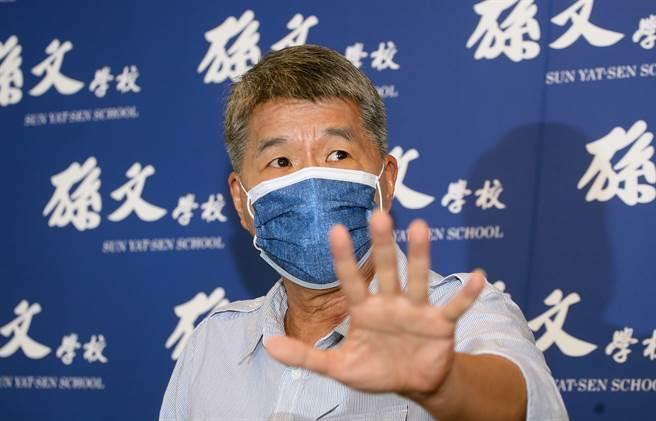國民黨主席候選人張亞中遭選監委員會移送考紀會,他14日召開記者會時,除了痛批幕後黑手打壓,並質疑前主席朱立倫對黨的忠誠度。(范揚光攝)
