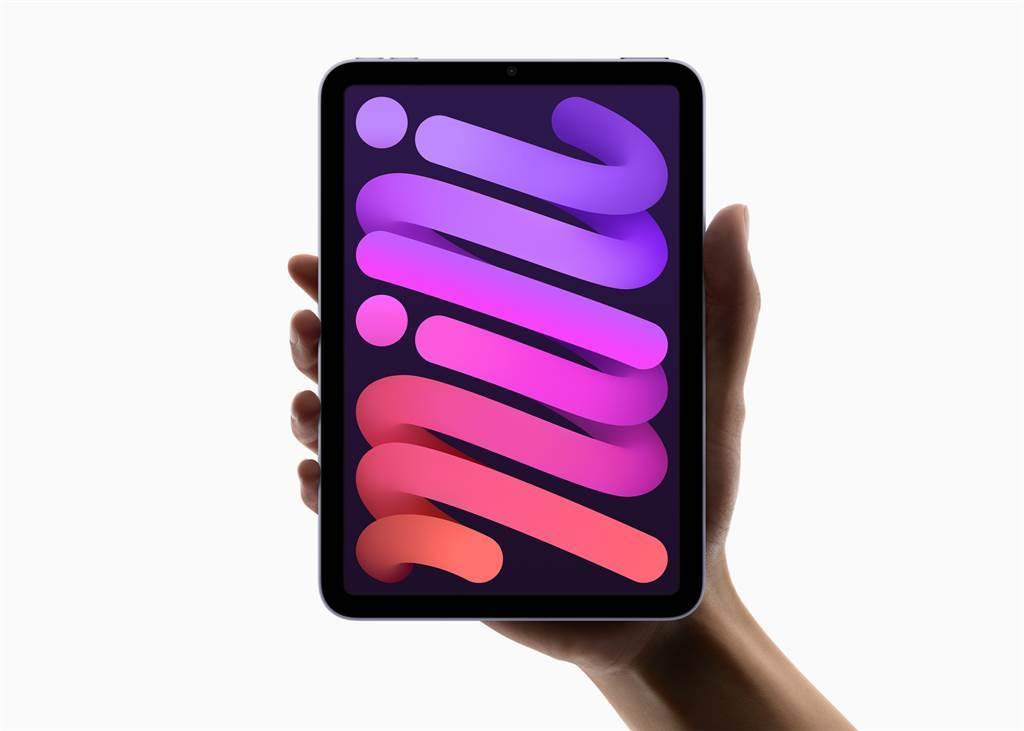 蘋果推出iPad Mini 6,螢幕達8.3吋,支援第二代Apple Pencil,並且首度改採USB-C連接埠。(圖/翻攝自蘋果官網)