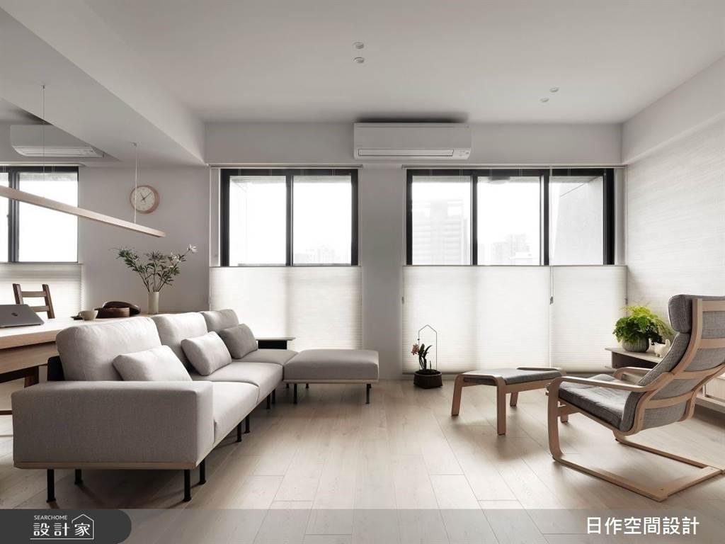 室內也能清爽一夏!5招空間涼感設計,體感視覺一起吃冰淇淋(圖/日作空間設計有限公司)