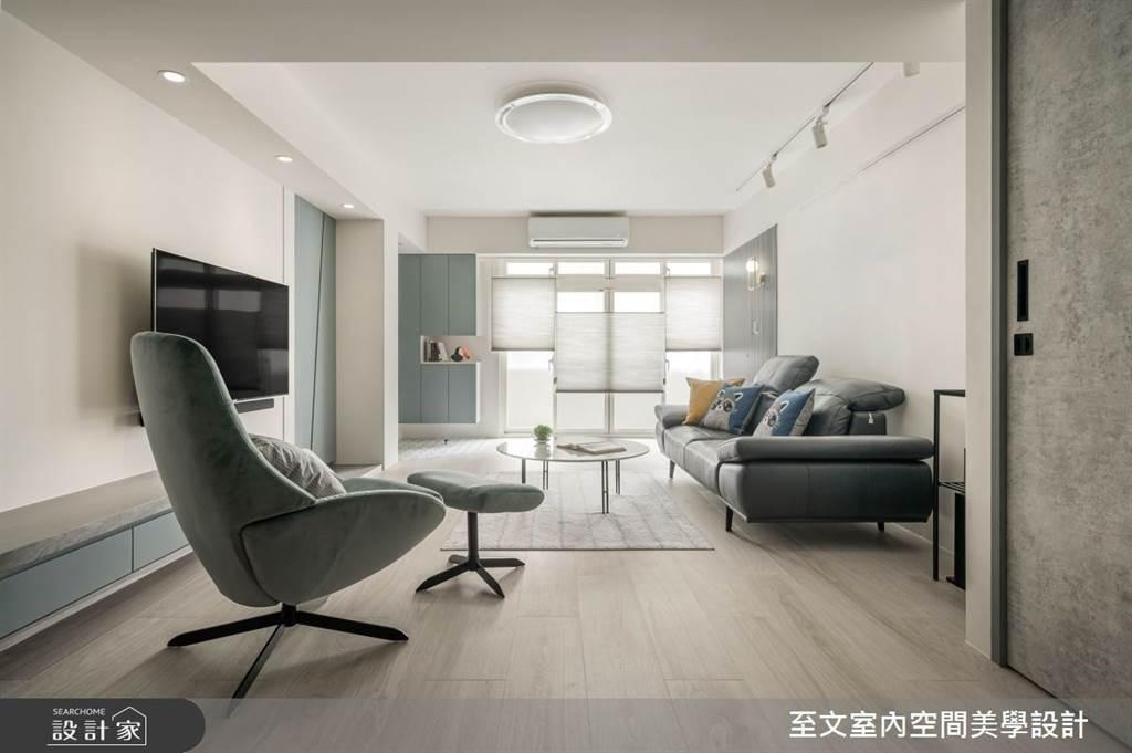室內也能清爽一夏!5招空間涼感設計,體感視覺一起吃冰淇淋(圖/至文室內裝修有限公司)