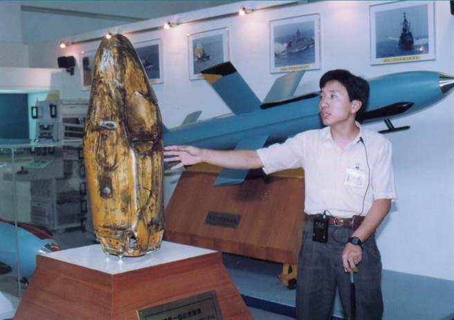 1994年中科院展示室陳列國軍雄風飛彈試驗過程與紀念彈頭(曹俊漢攝/中時報系檔案照未經同意禁止轉載)