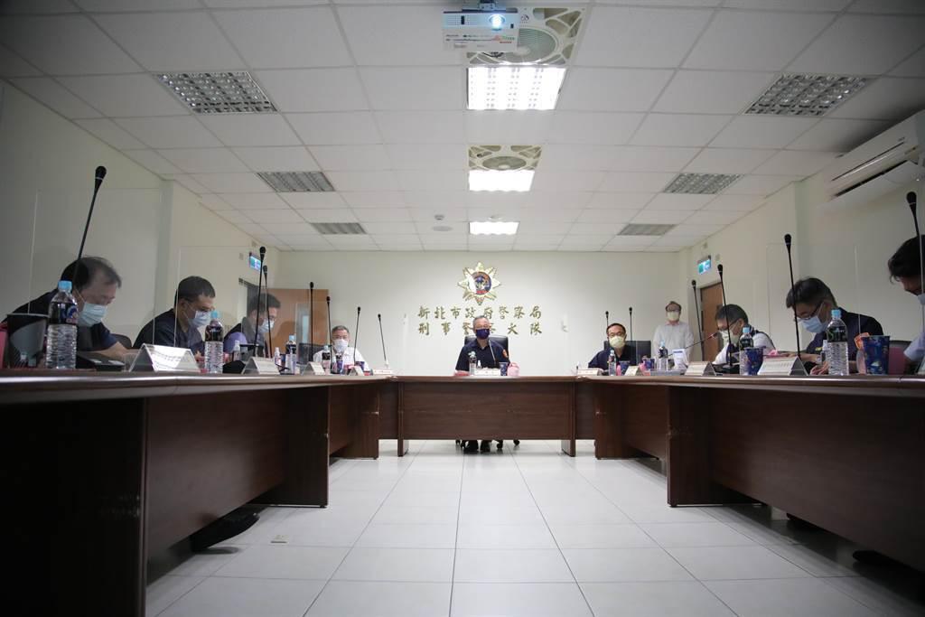 警政署長陳家欽強調絕不坐視黑道挑釁行為。(新北市警察局提供)