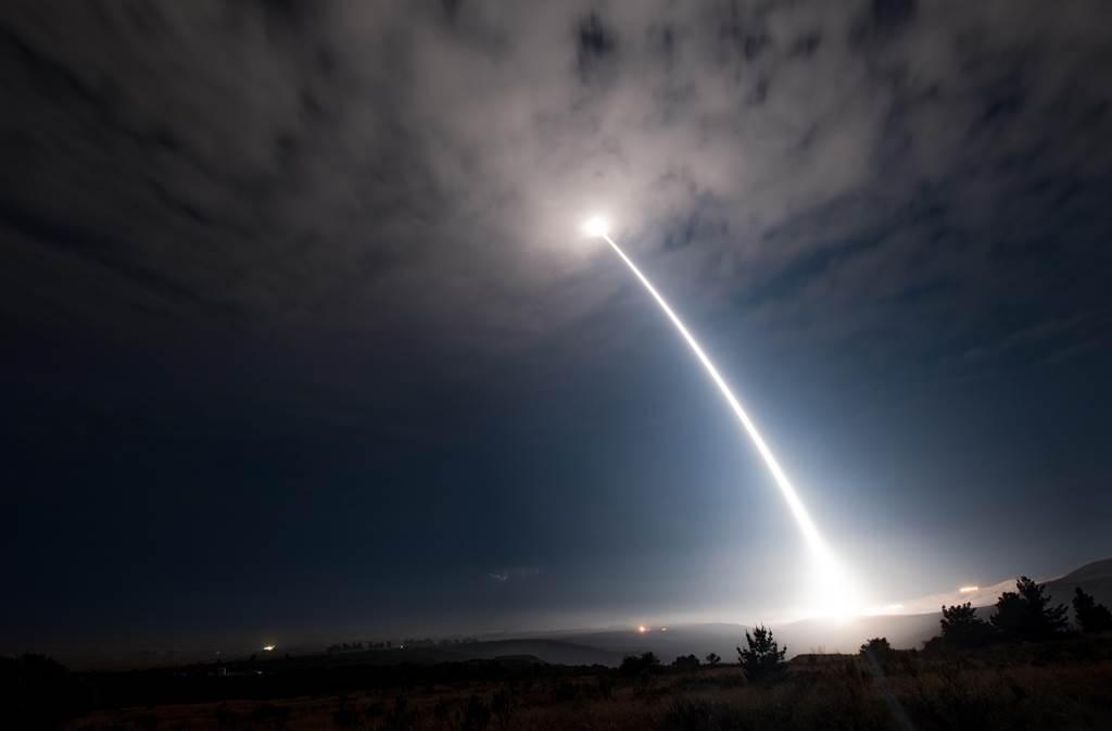民調顯示,有超過90%受訪美國民眾認為核子嚇阻「對美國國家安全至關重要」。圖為美軍試射義勇兵三型。(圖/美國空軍)