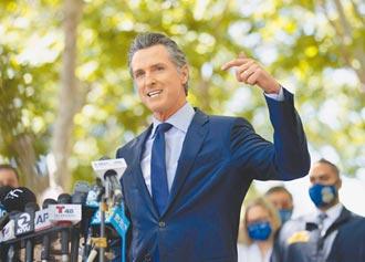 口罩令引發罷免 加州州長保住寶座