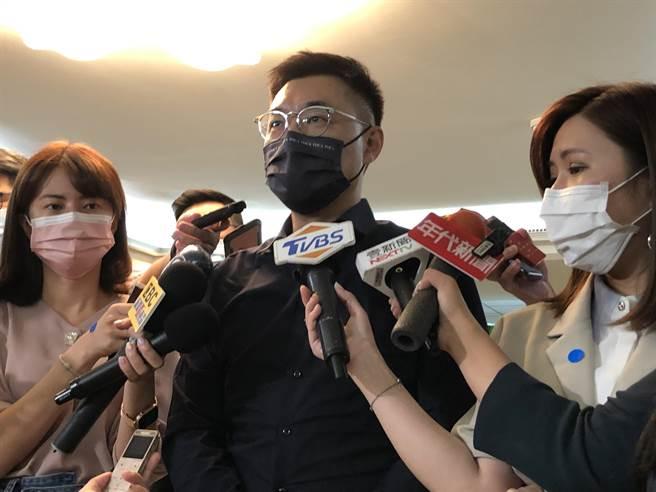 國民黨主席江啟臣。(張薷攝)