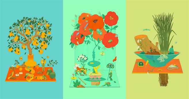 作畫如調香!川貝母詮釋植物氣味,創作6座繁美盆景園地。(伊日生活提供)
