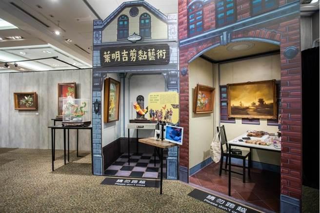 剪黏工藝師葉明吉、文物修護師葉昭旻父女,傳承百年宮廟的剪黏藝術。(石智中攝)