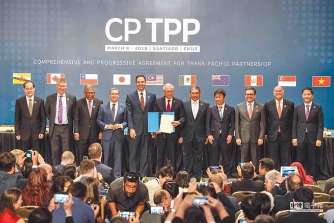 大陸正式提出申請加入《全面進步跨太平洋夥伴關係協定》。圖為2018年3月9日智利等11國簽署全面與進步跨太平洋夥伴關係協定。(新華社)