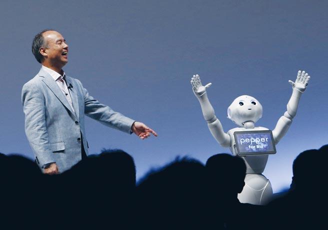 軟銀集團執行長孫正義看好新機器人能取代整體勞動人口。圖/路透