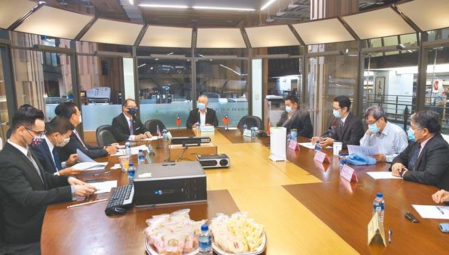 旺旺中時媒體集團15日舉行「2021中美第三次高層對話」為主題的政軍兵棋推演。(陳君瑋攝)