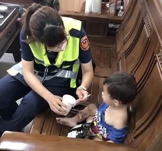2歲男童離家尋母 霧警沿街廣播通知家人認領