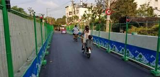 東豐自行車綠廊施工殺風景 中秋節前開通便道一路暢騎