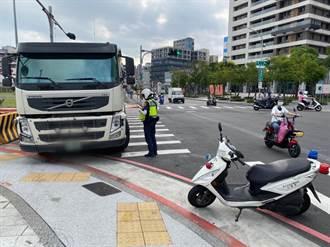 大型車輛違規影響交通 新北中和警專案執法