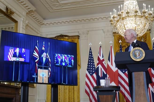 美、英、澳組成新的防禦聯盟後,澳洲取消與法國的巨額潛艦交易,擬轉而與美國合作打造核動力潛艦艦隊,法國對這個驚人的決定表示憤怒。(圖/美聯社)